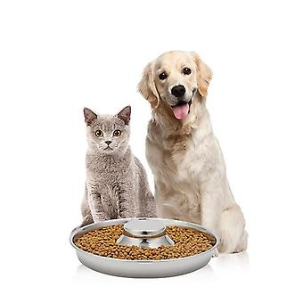 The dog bowl is made of high quality stainless steel