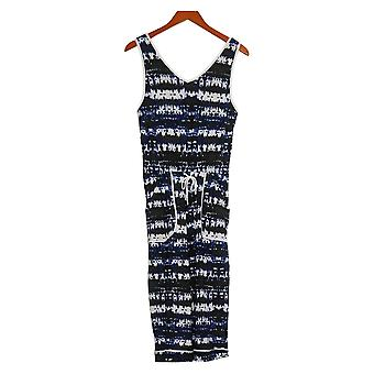 Cuddl Duds Jumpsuits Cool & Airy Jumpsuit with Front Tie Blue A373525