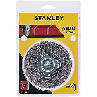 Cepillo de alambre de acero engarzado Stanley 100mm