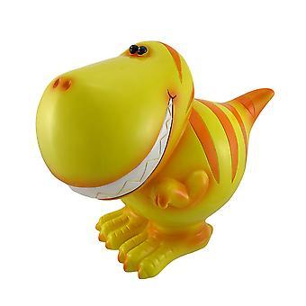 Children`s Jumbo Yellow T-Rex Dinosaur Coin Bank