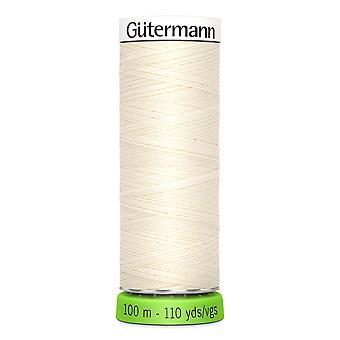 Gutermann 100% genanvendt polyester sy-alle tråd 100m hånd og maskine - 001