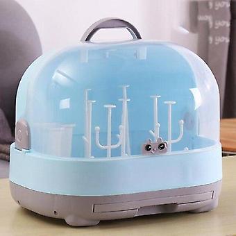 Anti Dust Baby Bottles Storage Box Drying Rack Plastic Tableware Dry Case Cleaning Dryer Drainer