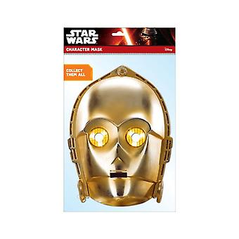 C-3PO Official Star Wars 2D Card Party Fancy Dress Mask