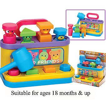 Funtime Pop up Friends Baby Toddler Activity Educational Toy with Hammer 18m+
