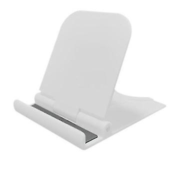 Soporte de plástico plegable universal para teléfono móvil tableta de escritorio (blanco)