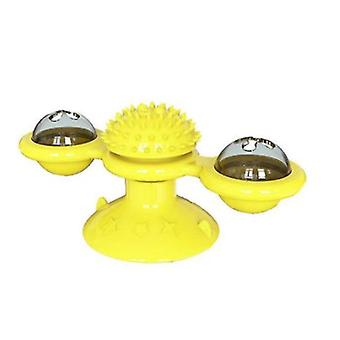 Windmill Cat Toy With Bells Interactive Toy With Suction Cup