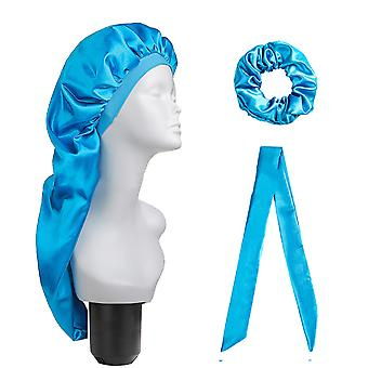Dirty Braided Hair Care Long Tube Cap And Turban Three-piece Set