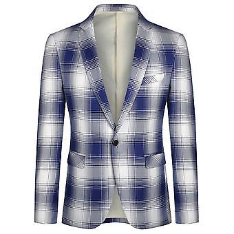 Veste de costume pour homme Yunyun Single Row Blazer Plaid à un bouton