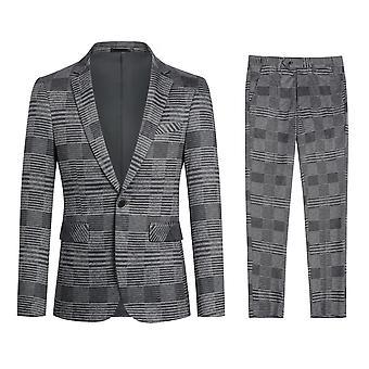 Yunyun Costumes à carreaux stripes casual 2 pièces Blazer et pantalon