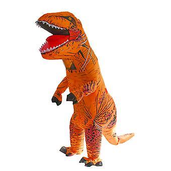 Orange Tyrannosaurus Rex (gyermek változat) Halloween Cosplay Tyrannosaurus Rex felfújható jelmez dinoszaurusz jelmez