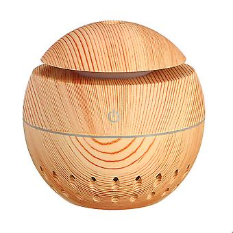 Caraele Usb Mini Wood Grain Air Humidifier 7 Colors Led Light-b