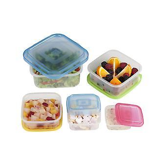 10 PC mat plast boksen Square lagercontainere med lokk