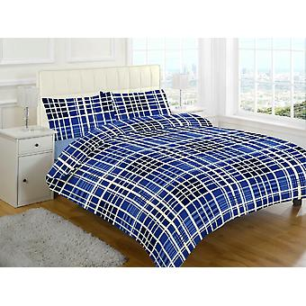 Evan Check Brushed Cotton Flannelette Thermal Sheet Set
