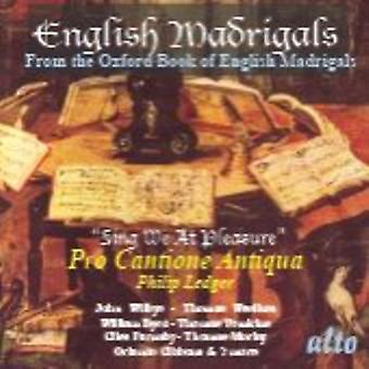 Madrigales o cante inglés nos en - inglés madrigales: cantar nosotros en importación de EEUU de placer [CD]