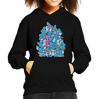 Pokemon Mudkip A Pile Of Water Starters Kid's Hooded Sweatshirt