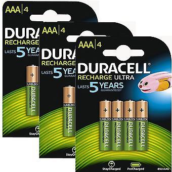 Duracell 850mAh Pre aufgeladen wiederaufladbare AAA-Batterien - Pack 12