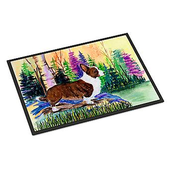 Carolines Treasures  SS8006JMAT Corgi Indoor or Outdoor Mat 24x36 Doormat