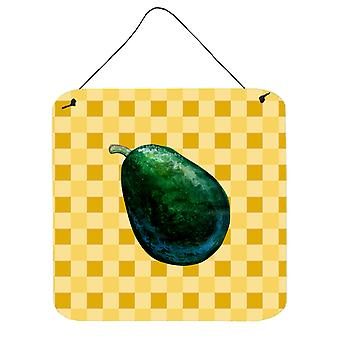 Whole Avacado on Basketweave Wall or Door Hanging Prints