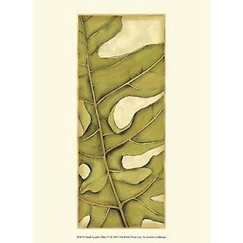 Small Graphic Palms VI Poster Print by Jennifer Goldberger (10 x 13)