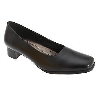 Mod Comfys Womens/Ladies Plain Leather Court Shoes