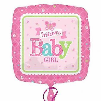 Amscan Welcome Baby Girl/Boy Butterly/Train Design Foil Balloon