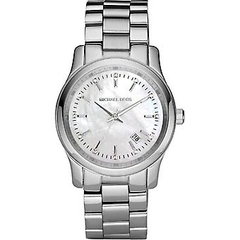 Michael Kors Runway Womens Ladies Watch Silver Stainless Steel Bracelet White Dial MK5338