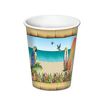 Paradise drank Cups (8/Pkg)