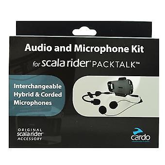 Cardo Scala Rider lyd / mikrofon Kit med Hybrid & fast lenser for PackTalk - SRAK0032