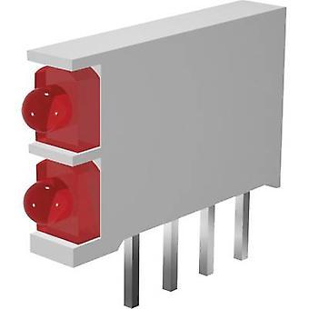 Signal Construct DBI 01322 LED component 2x Green, Green (L x W x H) 15.5 x 2.5 x 12 mm