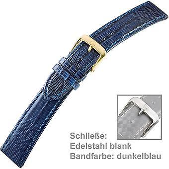 Blue Watch Strap Leather calf leather ladies U. bracelet of ladies 18 mm