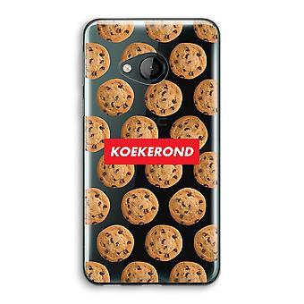 HTC U Play transparant Case (Soft) - Koekerond