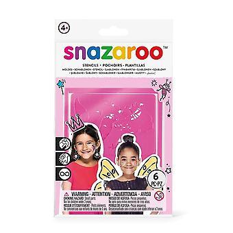 Snazaroo 1198014 fantasía cara pintura plantillas - Set de 6
