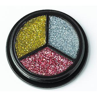 Trio glitter prata-ouro-rosa