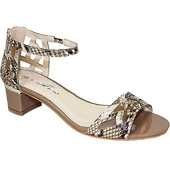 JLH745 Atlantic Ladies Snake Peep Toe Cut Out Strappy Heeled Fashion Sandals