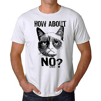 Grumpy Cat How About No Men's White Funny T-shirt