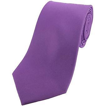 David Van Hagen Satin Seide Krawatte - lila