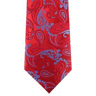 Дэвид ван Хаген Пейсли галстук - красный/синий