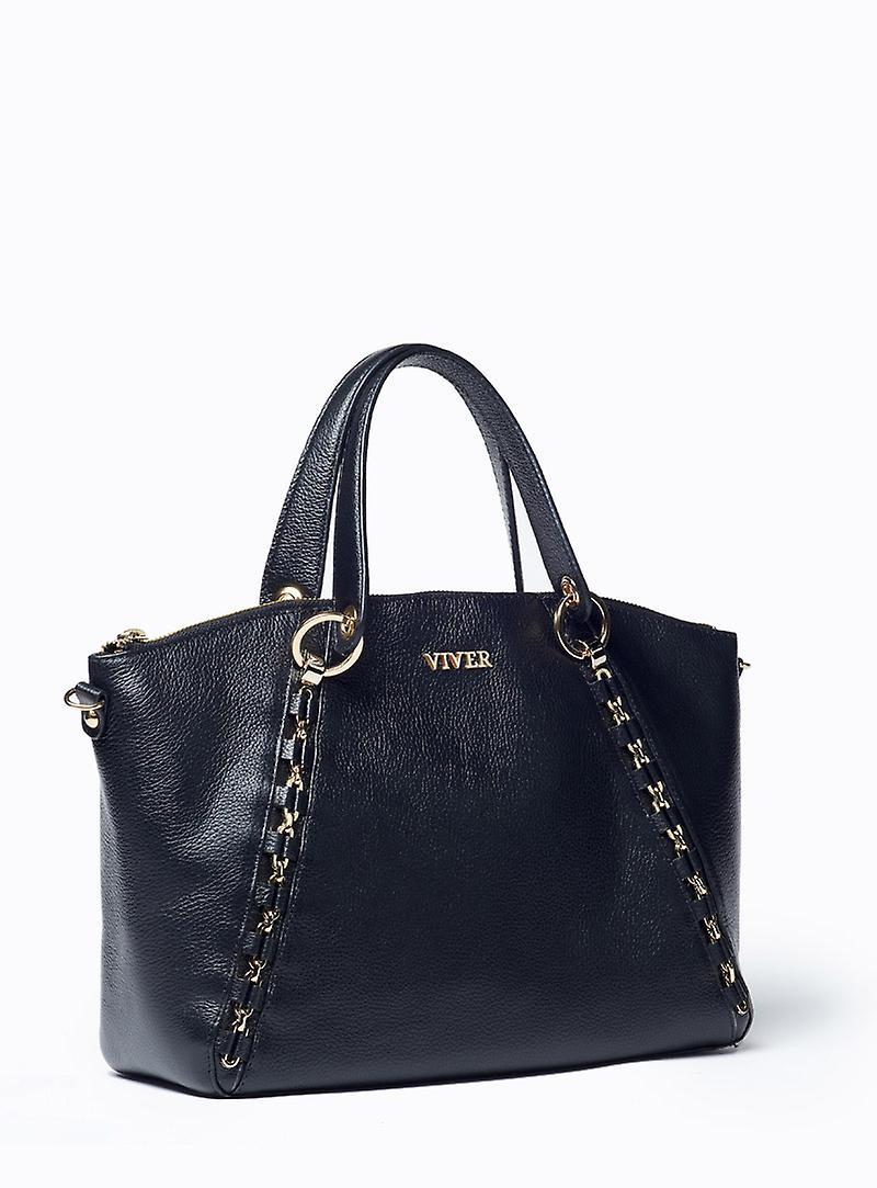 Viver Etude Black Leather Handbag