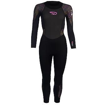 Gul Womens Core Full Wetsuit High Neck Zip Mesh Quick Drying Stretch Sports