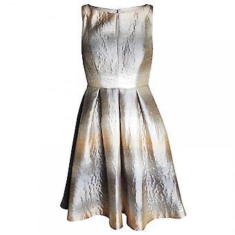 Veromia Occasions Sleeveless Flared Metallic Dress