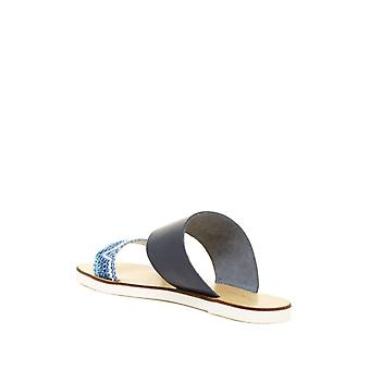 Charles David Womens Gia Leather Open Toe Casual Slide Sandals