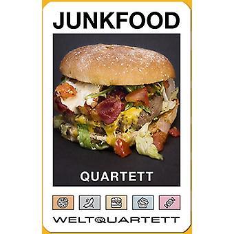 Junk Food Burger Gıda Kalori Dörtlü Abur Cubur Dörtlü Kart Oyunu
