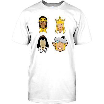 Monkey Magic Gang - Monkey Pigsy Sandy Tripitaka Mens T-skjorte