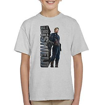 Marvel Avengers Infinity War Get This Man A Shield Captian America Kid's T-Shirt