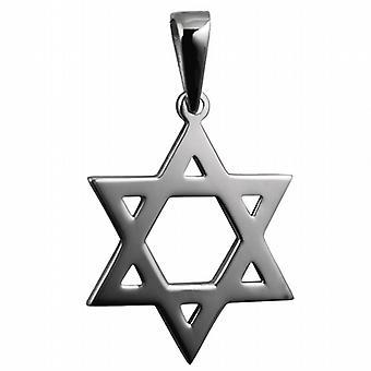 Silberne 31x27mm schlicht Stern von David Anhänger gegen eine Kaution