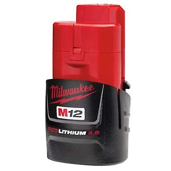 Milwaukee M12B2 2.0Ah Lithium-Ion Battery - Red
