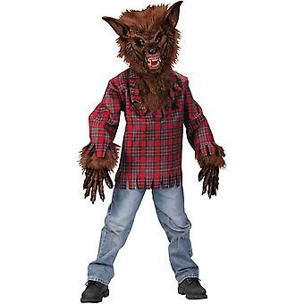 Costume enfant plaid loup-garou