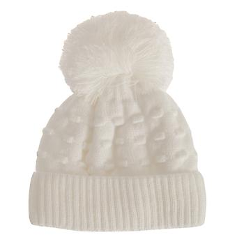 Baby Girls Knobbled talvi Bobble hattu