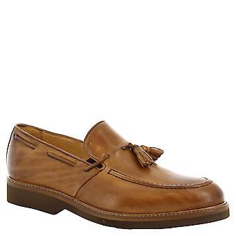 Leonerdo Schuhe Man handgemachte Tassel Loafer in Tan Leder