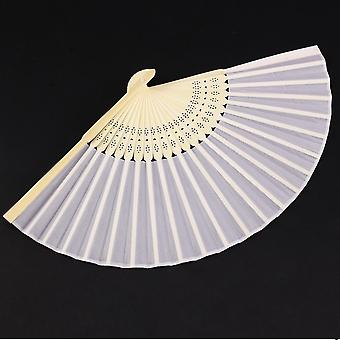 10pcs White Fans in a Beautiful Organza Bag - Wedding Party Guest Gift Elegant Womens Accessory Hot Summer Fan